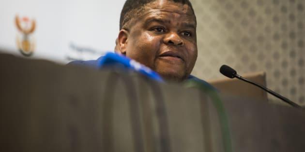 Energy Minister David Mahlobo.