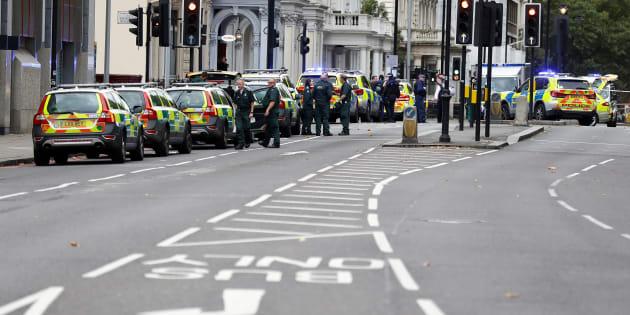 Londres: Exhibition Road, artère fréquentée de la capitale qui abrite de nombreux musées