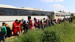 Bombing Of Syrian Bus Convoy Kills Dozens Outside