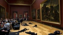 Manifestantes vestidos de negro provocan evacuación parcial del Louvre en