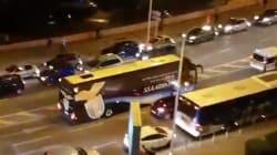 Le bus de la Lazio visé par des projectiles à Marseille, des échauffourées en