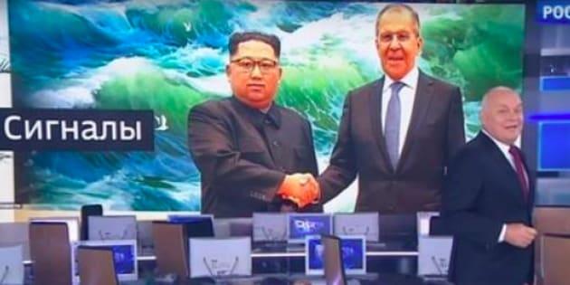 Une chaîne de télévision russe retouche une photo de Kim Jong-un pour lui redonner le sourire.