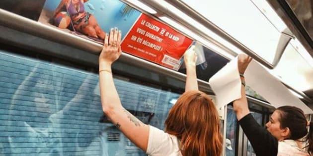 """Le collectif """"Nous sommes 52"""" colle des photos de femmes non-retouchées dans le métro de Paris"""