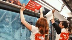 Un collectif colle des photos de femmes non-retouchées dans le métro