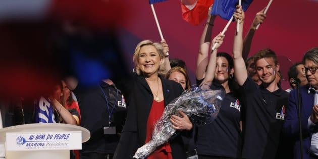 Marine Le Pen en meeting le 19 avril à Marseille