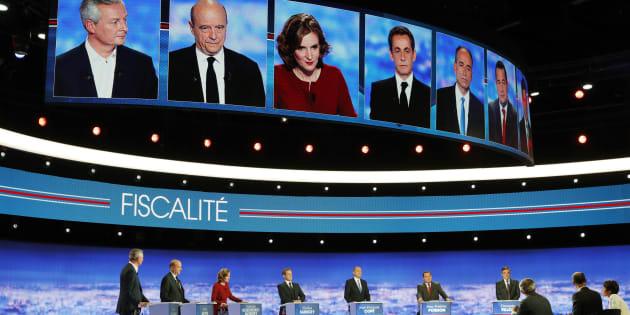 Image du premier débat opposant les candidats à la primaire de la droite, le 13 octobre 2016.