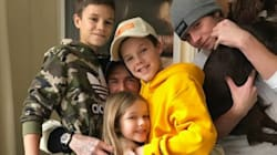 This Photo Of David Beckham Hugging His Kids Is Total Family
