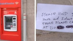 'Please Help I'm Stuck': ATM Spits Out Desperate Note From Trapped