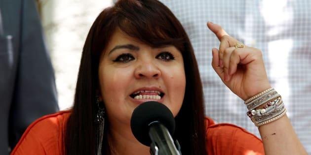 En conferencia de prensa, Nestora Salgado exigió una disculpa pública del candidato de la coalición Todos Por México, José Antonio Meade.
