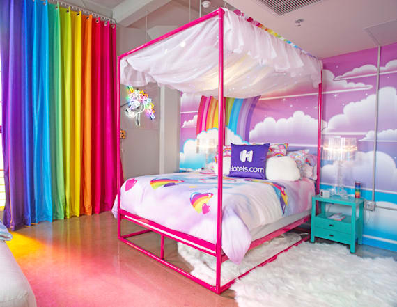 You can now stay at a Lisa Frank decorated penthouse