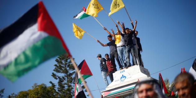 Des Palestiniens ont participé à une manifestation contre la déclaration de Balfour, à Gaza, le 2 novembre dernier.