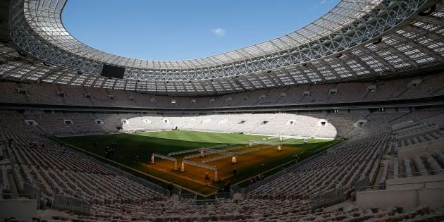 Le stade Loujniki de Moscou, théâtre de la finale de la Coup du monde 2018, en mai 2017.