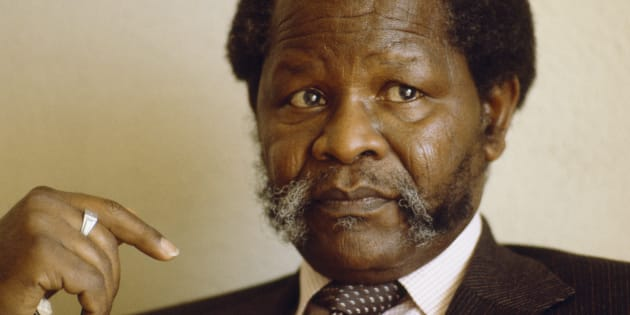The leader of the African National Congress, Oliver Tambo, during his exile in Botswana. (Photo by William Campbell/Sygma via Getty Images)