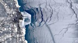 Le lac Michigan gelé inspire les