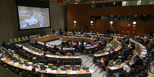 A general view of the meeting of Sustainable Development goals at United Nations (UN) headquarters in New York, United States on April 21, 2016.