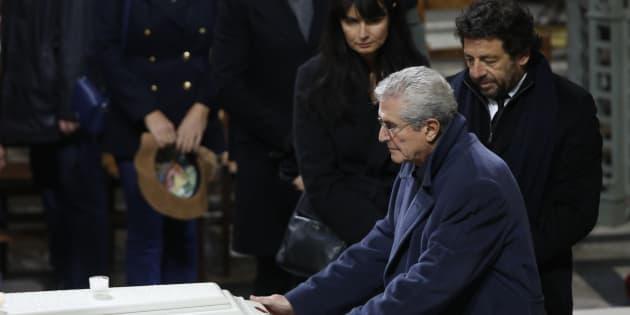 Claude Lelouch lors des obsèques de Johnny Hallyday à Paris le 9 décembre 2017.