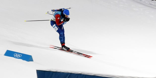 PYEONGCHANG-GUN, SOUTH KOREA - FEBRUARY 11: Martin Fourcade of France in action during the Biathlon Men's 10km Sprint at Alpensia Biathlon Centre on February 11, 2018 in Pyeongchang-gun, South Korea. (Photo by Christophe Pallot/Agence Zoom/Getty Images)