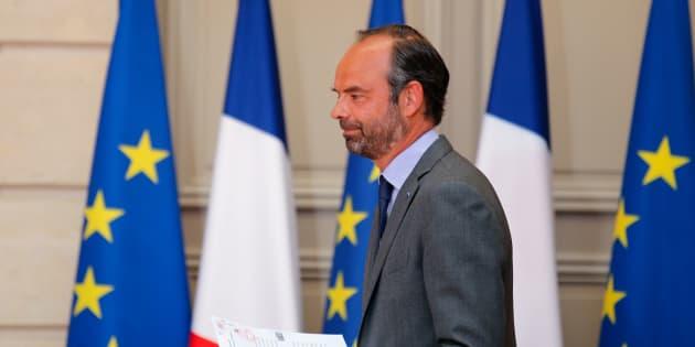 Edouard Philippe à l'Elysée le 9 mai 2018.
