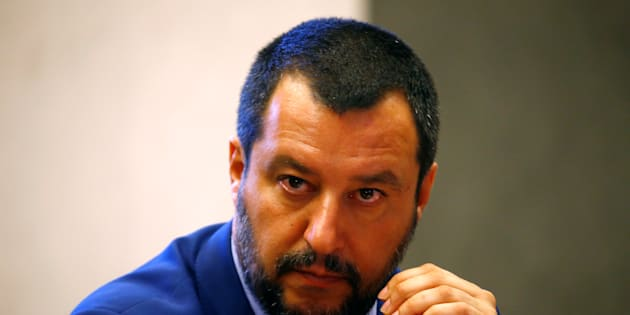 Italy's Interior Minister Matteo Salvini looks on during the news conference at the Viminale in Rome, Italy, June 20, 2018. REUTERS/Stefano Rellandini