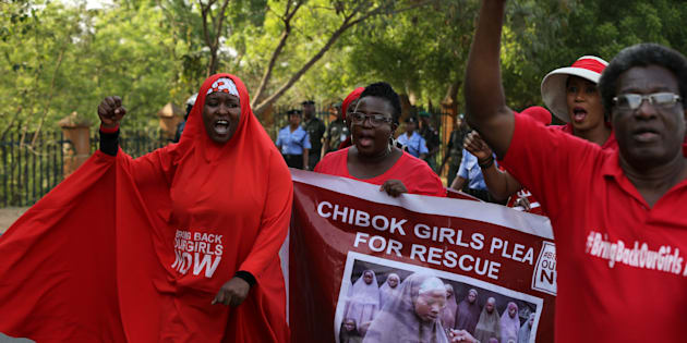 Campaigners from the #BringBackOurGirls group protest in Nigeria's capital Abuja to mark 1,000 days since over 200 schoolgirls were kidnapped from their secondary school in Chibok by Islamist sect Boko Haram, Nigeria January 8, 2017.