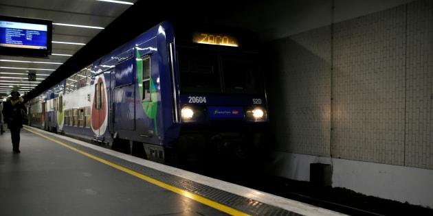 Un RER D à quai Gare de Lyon à Paris en mars 2017.