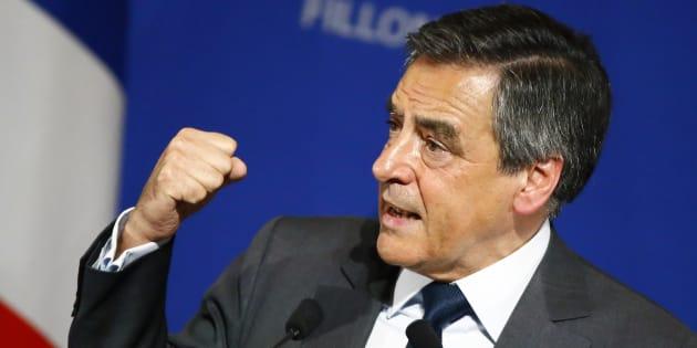 Francois Fillon en meeting le 25 novembre 2016 à Paris. (AP Photo/Francois Mori)