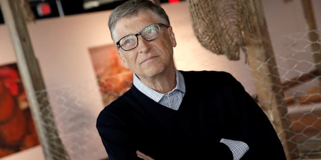 Billionaire philanthropist and Microsoft's co-founder Bill Gates speaks to the media, in front of a chicken coop set up on the 68th floor of the 4 World Trade Center tower, in Manhattan, New York, U.S., June 8, 2016,  while announcing that he is donating 100,000 chicks to developing countries with the goal of ending extreme poverty.  REUTERS/Mike Segar