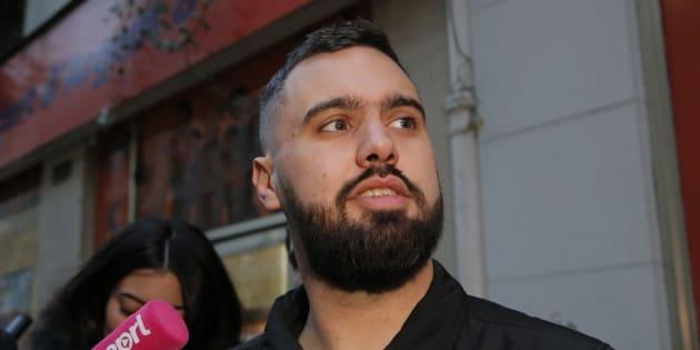 """Éric Drouet, principal animateur de la page des gilets jaunes """"La France en colère"""", rejette l'aide du vice-premier ministre italien."""