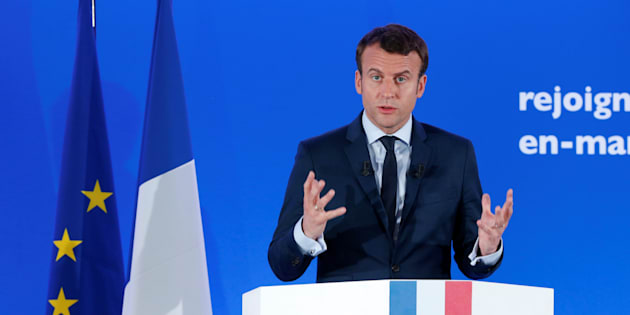 Emmanuel Macron ce mardi 28 mars pendant sa conférence de presse.