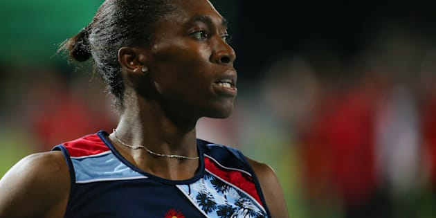Caster Semenya after the final of the women's 800m during day three of the ASA Senior and Combined Events Track and Field Championships at Tuks Athletics Stadium on March 17, 2018 in Pretoria.