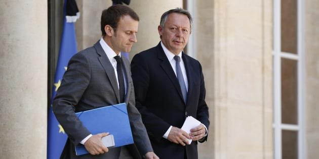 Thierry Braillard et Emmanuel Macron à l'Elysée en juillet 2016
