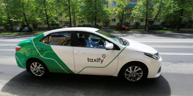 A Taxify car drives in Tallinn, Estonia, June 13, 2017. Picture taken June 13, 2017.