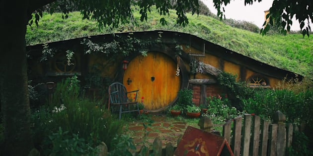 "A Hobbit hole on the Hobbiton movie set where ""The Lord of the Rings"" and ""The Hobbit"" trilogies were filmed in Matamata, New Zealand from a picture taken on June 19, 2015."