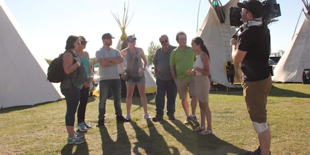 "Participants in the new APTN show ""First Contact,"" are shown in a handout photo. Credit: The Canadian Press"