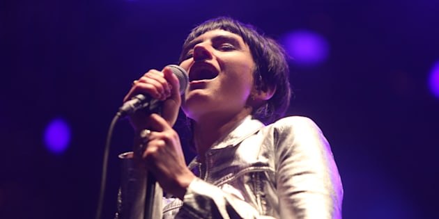 Isabella Manfredi of The Preatures at the Yours and Owls festival.