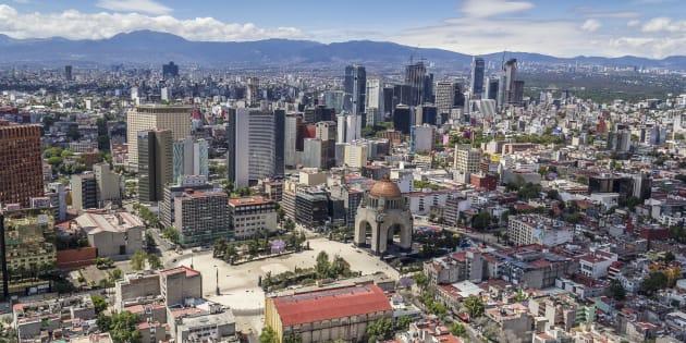 Vista de la colonia Tabacalera, en Ciudad de México.