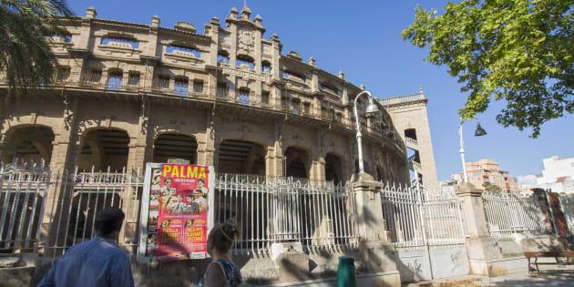 Fachada de la Plaza de toros de Palma de Mallorca, conocida popularmente como Coliseo balear.