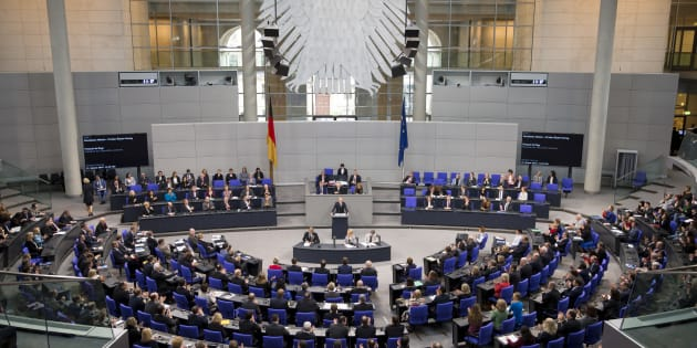 President of the French National Assembly Francois de Rugy (C) speaks during a special session of the Bundestag for the 55th Anniversary of the Elysee Treaty in Berlin, Germany on January 22, 2018. (Photo by Emmanuele Contini/NurPhoto via Getty Images)