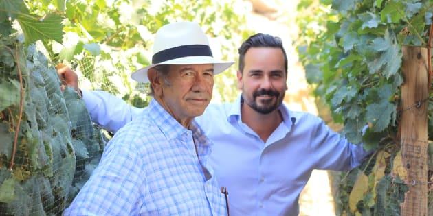 Hans Paul Backhoff, enólogo y socio fundador, y Hans Joseph Backhoff, enólogo y director general. Hombres apasionados, talentosos y orgullo de México.