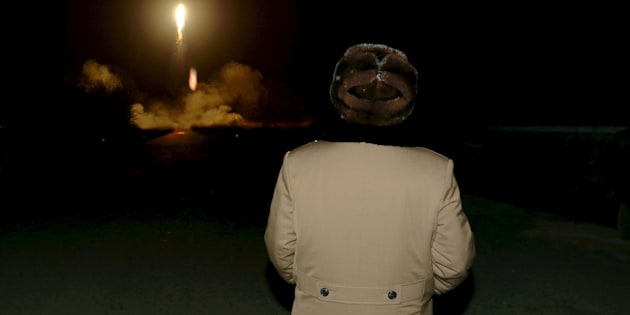 North Korean leader Kim Jong Un watches the ballistic rocket launch drill of the Strategic Force of the Korean People's Army (KPA) at an unknown location, in this undated file photo released by North Korea's Korean Central News Agency (KCNA) in Pyongyang on March 11, 2016.          REUTERS/KCNA/Files     ATTENTION EDITORS - THIS PICTURE WAS PROVIDED BY A THIRD PARTY. REUTERS IS UNABLE TO INDEPENDENTLY VERIFY THE AUTHENTICITY, CONTENT, LOCATION OR DATE OF THIS IMAGE. FOR EDITORIAL USE ONLY. NOT FOR SALE FOR MARKETING OR ADVERTISING CAMPAIGNS. NO THIRD PARTY SALES. NOT FOR USE BY REUTERS THIRD PARTY DISTRIBUTORS. SOUTH KOREA OUT. NO COMMERCIAL OR EDITORIAL SALES IN SOUTH KOREA. THIS PICTURE IS DISTRIBUTED EXACTLY AS RECEIVED BY REUTERS, AS A SERVICE TO CLIENTS.        TPX IMAGES OF THE DAY      TPX IMAGES OF THE DAY