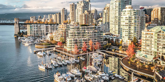 Condo buildings along Vancouver's False Creek. StatCan data shows the rate of people leaving Vancouver and Toronto is accelerating, especially among millennials.