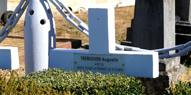 Édouard Philippe a rendu hommage à Augustin Trébuchon, dernier poilu tué en 1918; le 11 novembre et pas le 10 comme indiqué sur la croix du cimetière de Vrigne-Meuse.