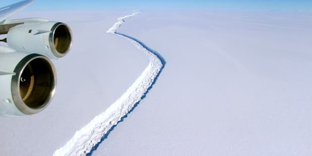 An image released by NASA in November of the rift in the Larsen C.