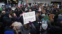 Watch The Moment Protesters Found Out A Court Blocked Trump's Refugee