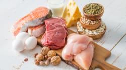 Cuánta proteína tienen el huevo, pollo, atún, carne, leche y