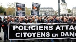 Plusieurs centaines de policiers manifestent dans plusieurs