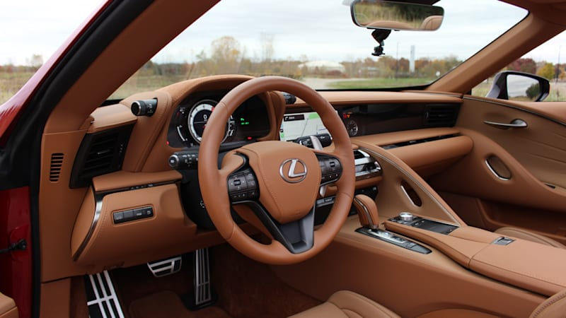 2021 Lexus LC 500 Convertible Interior Driveway Test | Lexus at its best