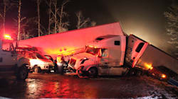 B.C. Highway Pileup Sends Dozens To