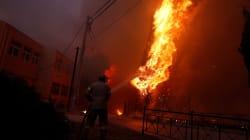 Los aterradores vídeos de los fuegos descontrolados que arrasan