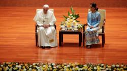 En Birmanie, le pape François évoque les Rohingyas mais sans prononcer leur